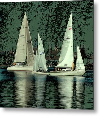 Metal Print featuring the photograph Sailing Reflections by David Patterson