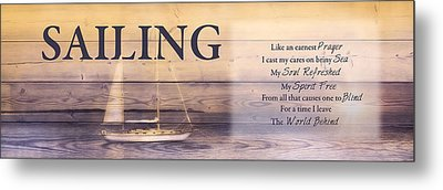 Metal Print featuring the photograph Sailing by Robin-lee Vieira