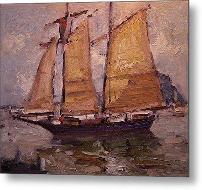 Sailing Ship In Morro Bay Metal Print