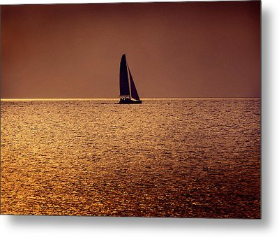Sailing Metal Print by Steven Sparks
