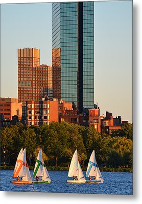 Sailing The Charles River Boston Ma Close Up Metal Print by Toby McGuire