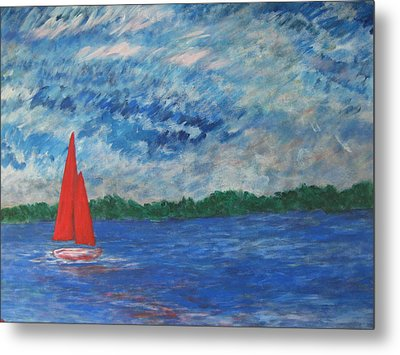 Sailing The Wind Metal Print