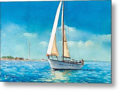 Sailing Through The Gut Metal Print by Laura Lee Zanghetti