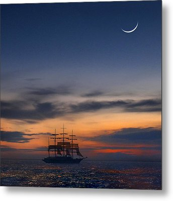 Sailing To The Moon 2 Metal Print by Mike McGlothlen