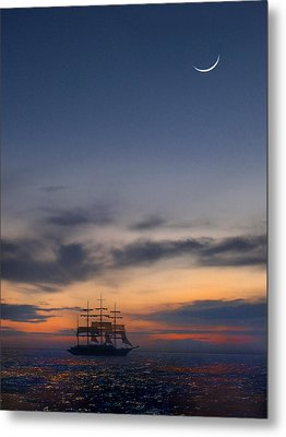 Sailing To The Moon Metal Print by Mike McGlothlen