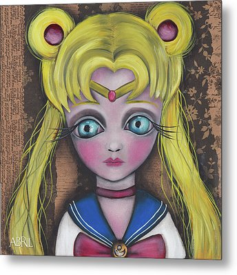 Sailor Moon Metal Print by Abril Andrade Griffith