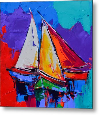 Sails Colors Metal Print by Elise Palmigiani