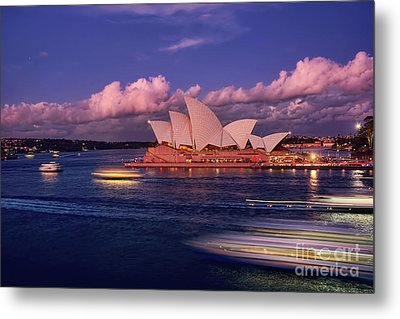 Metal Print featuring the photograph Sails In The Clouds By Kaye Menner by Kaye Menner
