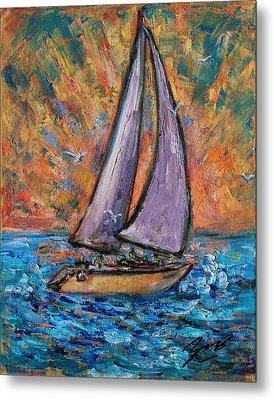 Sails Up Metal Print