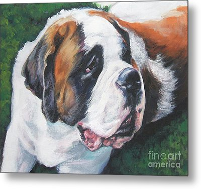 Saint Bernard Metal Print by Lee Ann Shepard