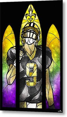 Saint Brees Metal Print by Mandie Manzano