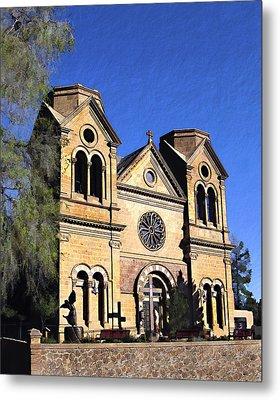 Saint Francis Cathedral Santa Fe Metal Print by Kurt Van Wagner