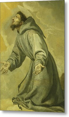 Saint Francis Receiving The Stigmata Metal Print by Vicente Carducho