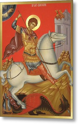 Saint George Metal Print by Daniel Neculae