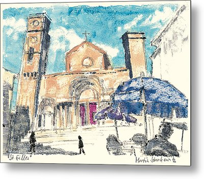 Metal Print featuring the painting Saint Gilles Abbey by Martin Stankewitz