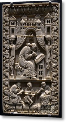 Saint Gregory The Great With Scribes Metal Print by Science Source