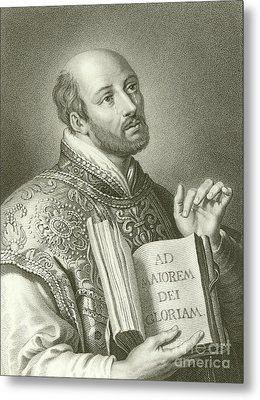 Saint Ignatius Of Loyola Metal Print by English School