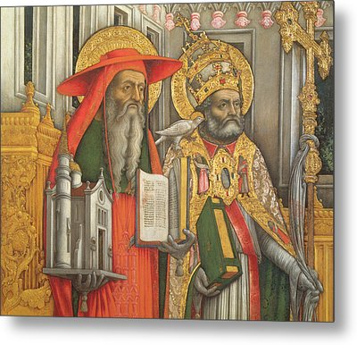 Saint Jerome And Saint Gregory Metal Print