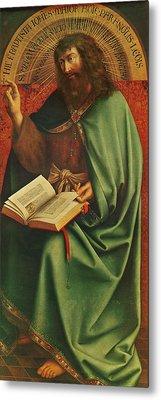 Saint John The Baptist   Metal Print by Jan Van Eyck