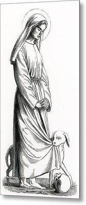 Saint Margaret Of Cortona Metal Print
