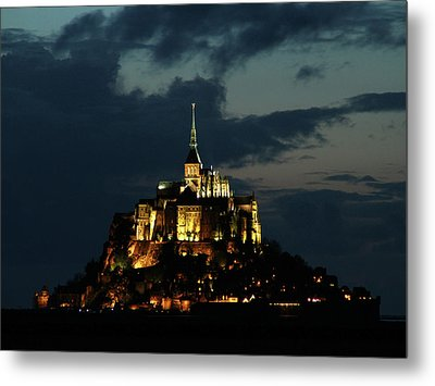 Saint Michel Mount After The Sunset, France Metal Print by Yoel Koskas