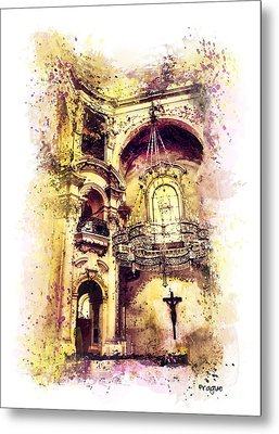 Saint Nicholas Church Prague  Metal Print
