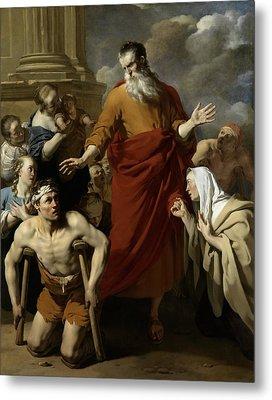 Saint Paul Healing The Cripple At Lystra Metal Print by Karel Dujardin