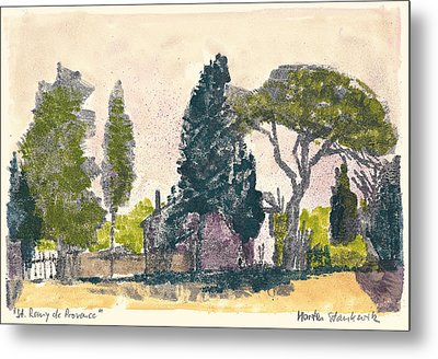 Metal Print featuring the painting Saint Remy De Provence Landscape by Martin Stankewitz
