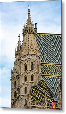 Saint Stephens Spires And Tiled Roof Metal Print by Bob Phillips