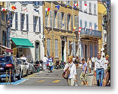 Saint Tropez Moment Metal Print by Keith Armstrong