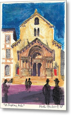 Metal Print featuring the painting Saint Trophime Arles Provence by Martin Stankewitz