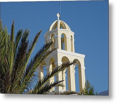 Metal Print featuring the photograph Saintorini A Testiment Of Time by Nancy Bradley