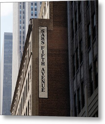 Saks Fifth Avenue - New York City Metal Print