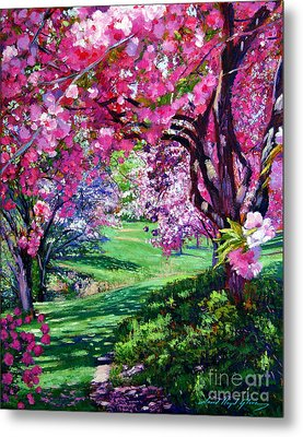 Sakura Romance Metal Print by David Lloyd Glover