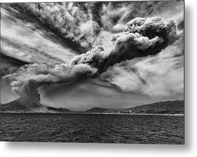 Sakurajima Volcano Metal Print