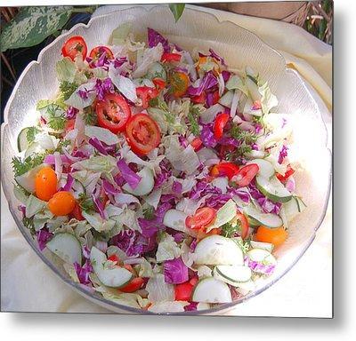 Salad Metal Print