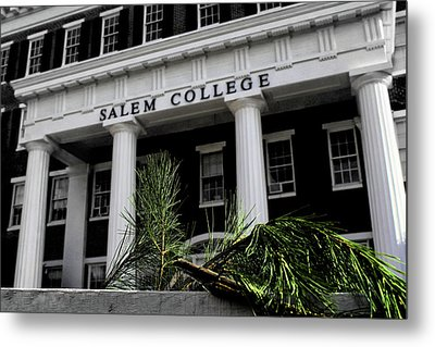 Metal Print featuring the photograph Salem College by Jessica Brawley