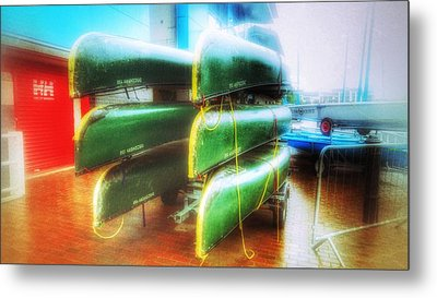 Metal Print featuring the photograph Salford Quays Boats by Isabella F Abbie Shores FRSA