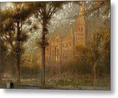 Salisbury Cathedral Metal Print by Albert Goodwin