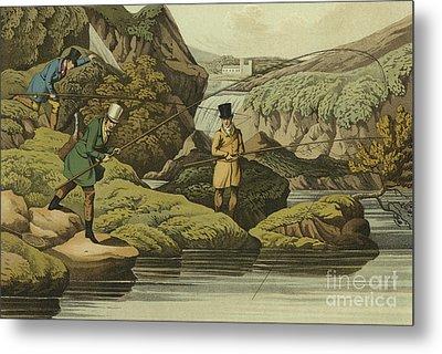 Salmon Fishing Metal Print by Henry Thomas Alken