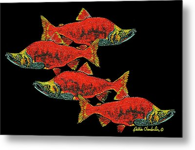 Salmon Season Metal Print