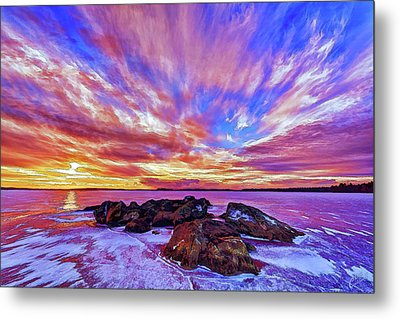 Salmon Sunrise Metal Print by ABeautifulSky Photography