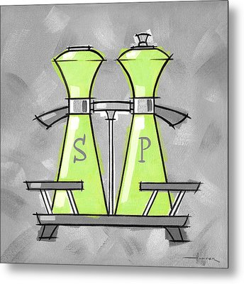 Salt And Pepper Lime Metal Print by Larry Hunter