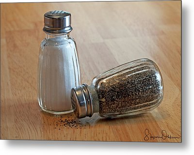 Salt And Pepper Shakers 1 - Signed Limited Edition Metal Print by Steve Ohlsen