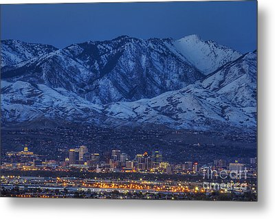 Metal Print featuring the photograph Salt Lake City by Spencer Baugh