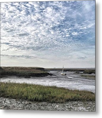 Salt Marsh And Creek, Brancaster Metal Print by John Edwards