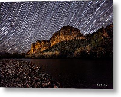 Salt River Star Trails Metal Print by Bill Cantey