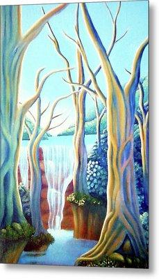 Saltwater Falls 2 Metal Print by Barbara Stirrup