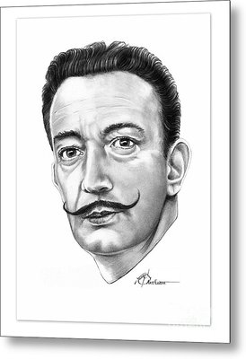 Salvador Dali Metal Print by Murphy Elliott