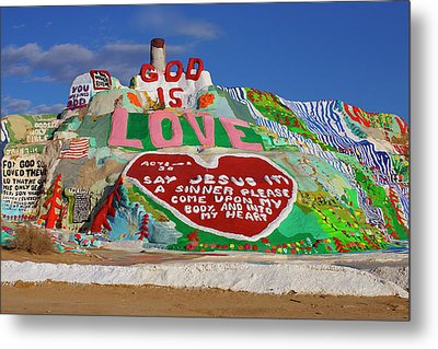 Metal Print featuring the photograph Salvation Mountain by Matthew Bamberg
